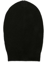 Rick Owens Ribbed Beanie Black