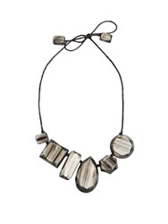 Max Mara Aceri Necklace Grey
