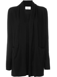 Allude Shawl Collar Cardigan Black