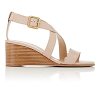 Chloe Women's Scallop Detailed Wedge Sandals Pink