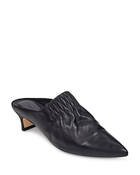 Sigerson Morrison Women's Marie Leather Pointed Toe Mules Black