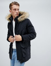 New Look Traditional Parka Jacket In Black