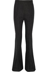 Marni Herringbone Wool Blend Bootcut Pants Anthracite