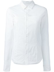 A.F.Vandevorst Fitted Button Up Shirt White