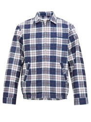 Noon Goons Picture Perfect Checked Technical Jacket Blue White