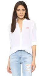 Sundry Just Us Oversized Shirt White