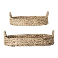 Bloomingville Water Hyacinth Woven Bread Basket Set Of 2