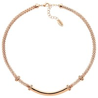 Finesse Mesh Glass Crystal Collar Necklace Rose Gold