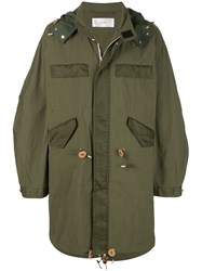 Julien David Oversized Parka Green