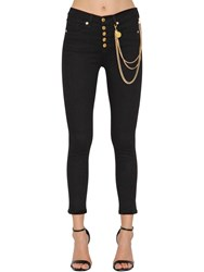 Veronica Beard Chain High Rise Skinny Denim Jeans Black