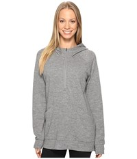 Lucy Om 1 2 Zip Pullover Silver Filigree Heather Women's Sweatshirt Gray