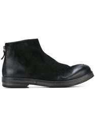 Marsell Zipped Ankle Boots Men Calf Leather Leather Foam Rubber 41.5 Black