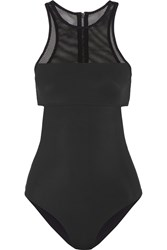 Alexander Wang Mesh Paneled Swimsuit Black