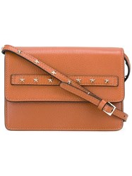 Red Valentino Star Studded Shoulder Bag Brown