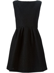 Boutique Moschino Lace Overlay Flared Dress Black