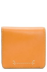 Frye Carson Small Leather Wallet Orange Sunrise