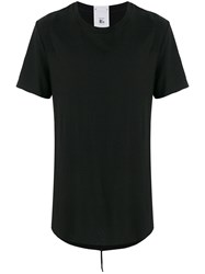 Lost And Found Rooms Carre T Shirt Cotton Linen Flax Black