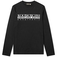 Napapijri Long Sleeve Serber Logo Tee Black