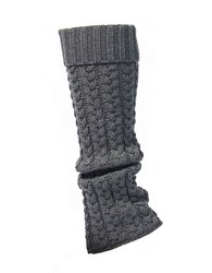 Lemon Cable Knit Legwarmers Peppercorn