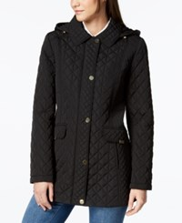 Jones New York Contrast Quilted Jacket Black
