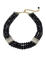 Heidi Daus Swarovski Crystal And Beads Necklace Black