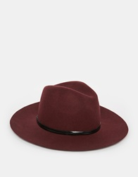 Catarzi Wide Brim Unstructured Fedora Hat