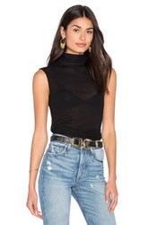 Enza Costa Sleeveless Turtleneck Top Black