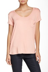Sweet Romeo Pocket Tee Pink