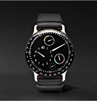 Ressence Type 3 Mechanical 44Mm Titanium And Leather Watch Black