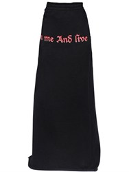 Vetements Printed Cotton Jersey Maxi Skirt