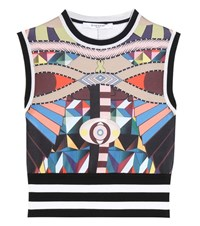 Givenchy Printed Cropped Top Multicoloured