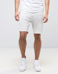 New Look Jersey Shorts In Light Grey Oatmeal Cream
