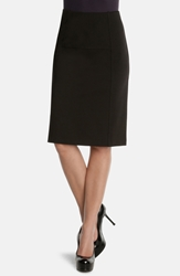 Nic Zoe 'New Flirt' Ponte Knit Skirt Black Onyx
