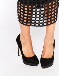 Lipsy Maxine Black Platform Court Shoes