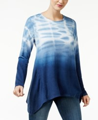 Styleandco. Style Co. Tie Dyed Handkerchief Hem Top Only At Macy's Industrial Blue