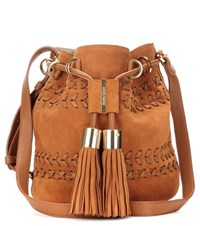 See By Chloe Vicki Small Suede And Leather Bucket Bag Brown