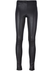 Theory Leather Leggings Black