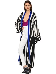 Haider Ackermann Striped Wool And Cashmere Knit Cardigan