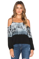 Gypsy 05 Bamboo Cold Shoulder Top Black