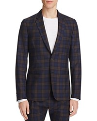 Paul Smith Plaid Slim Fit Sport Coat Navy Puple