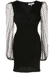 Likely Shanese Polka Dot Dress Black
