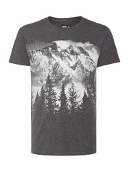 Army And Navy Silhouette Graphic Tee Charcoal Marl