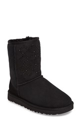 Uggr Women's Ugg Classic Short Crystal Genuine Shearling Lined Boot
