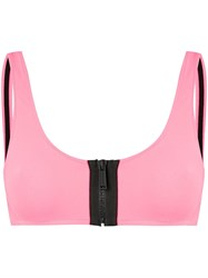 Dsquared2 Zipped Brassiere Top Pink