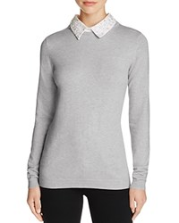 Chelsea And Theodore Embellished Collar Sweater Compare At 98 Mist Grey