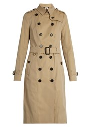 Burberry Sandringham Extra Long Gabardine Trench Coat Beige