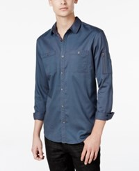 Inc International Concepts Men's Claudius Long Sleeve Shirt Only At Macy's Dark Slate