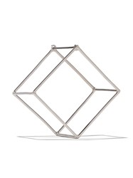 Shihara 18Kt White Gold 3D 25Mm Square Earring Unavailable