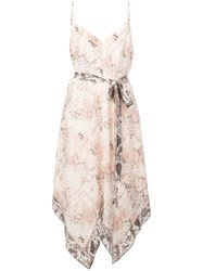 L'agence Snake Print Camisole Dress Pink And Purple