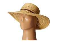 San Diego Hat Company Ubl6478 Ultrabraid Hombre Sunbrim W Leather Band Natural Caps Beige